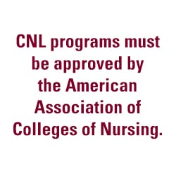 CNL programs must be approved by the AACN